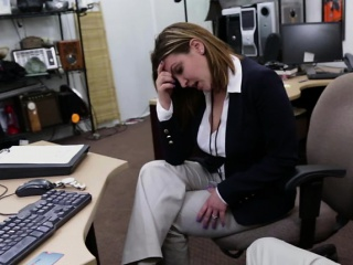 Mature business woman get banged