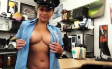 Slutty and brunette latina police woman gets fucked