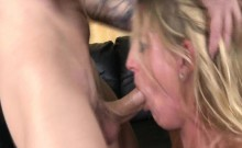 Blonde Woman Roughly Face Fucked By Jerk