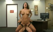Hey Jessica Jaymes! Can You Pump On Your Boss's Big Cock?