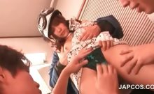 Teen asian sweetheart gets assets teased in gangbang